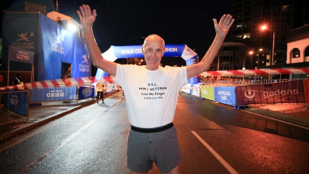 Victor Williams 92-year-old was the oldest finisher for 10k at Gold Coast Marathon Festival