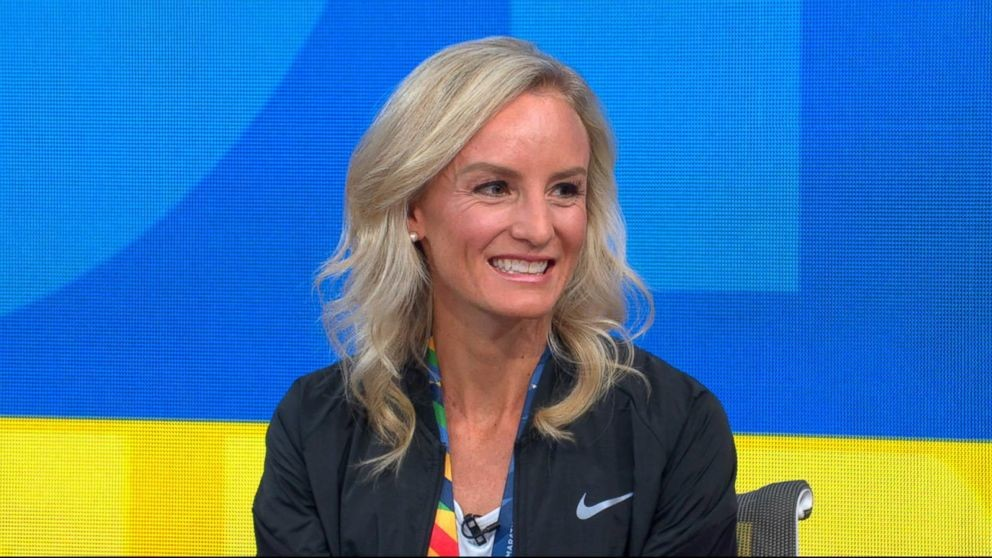 Shalane Flanagan who had surgery to repair a severely damaged patellar tendon in her right knee, will have several months' recovery ahead