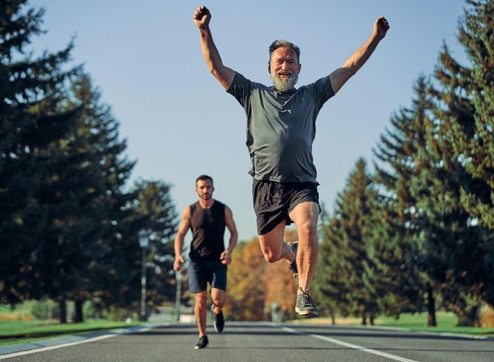 It's never too late to take up running and begin banking many of the health and aging benefits