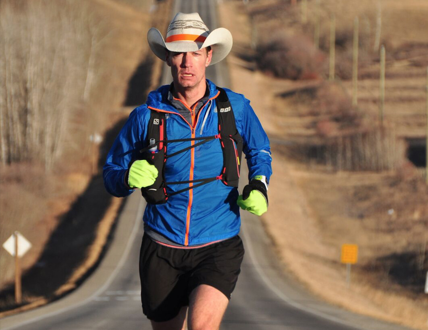 After 11 straight days on the road, ultrarunner Dave Proctor and his support crew arrived in Calgary Monday
