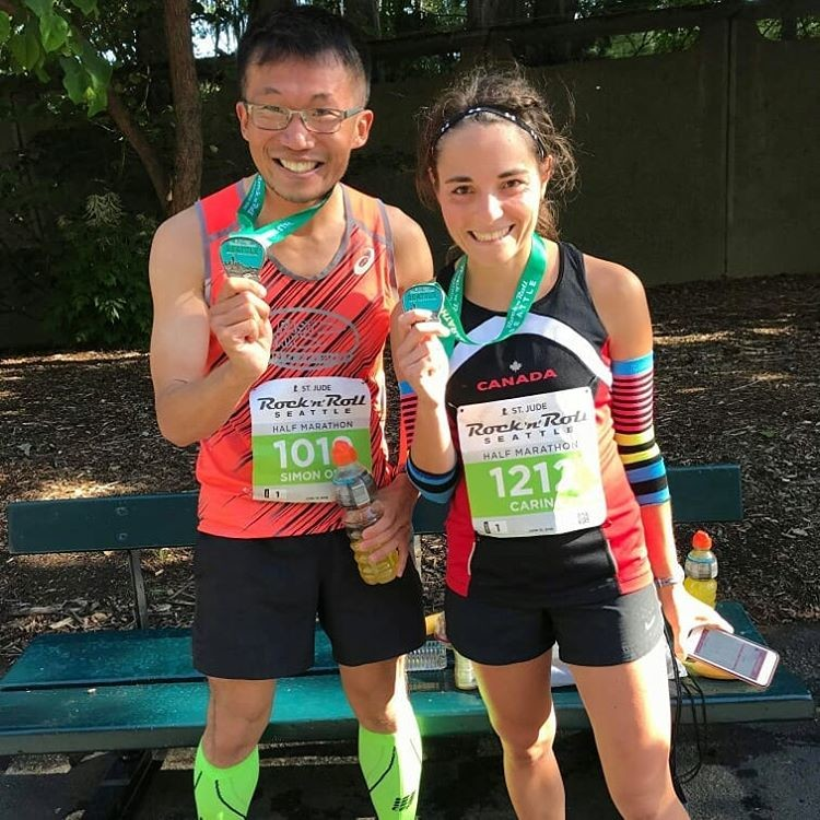 Simon Ong was a couch potato weighing 230 pounds, on sunday he finished 8th at Seattle Rock 'n' Roll Half Marathon