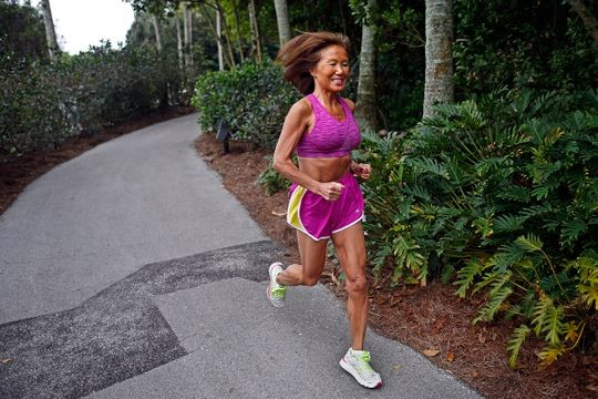 Jeannie Rice, 70, wants to break the world record for 13.1 miles in her age group at at the Naples Daily News Half Marathon