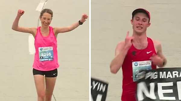 Jack Randall, and Anne Flower won the Flying Pig Marathon in Cincinnati Ohio Sunday