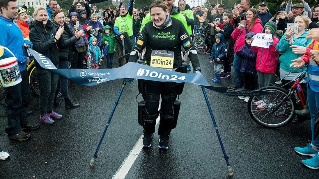 Claire Lomas wants to finish the Greater Manchester Marathon in 10 days