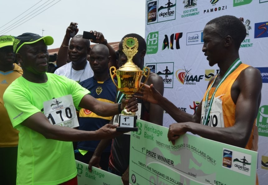 Runners will share in the $112,000 in prize money at the Okpekpe 10K Road Race