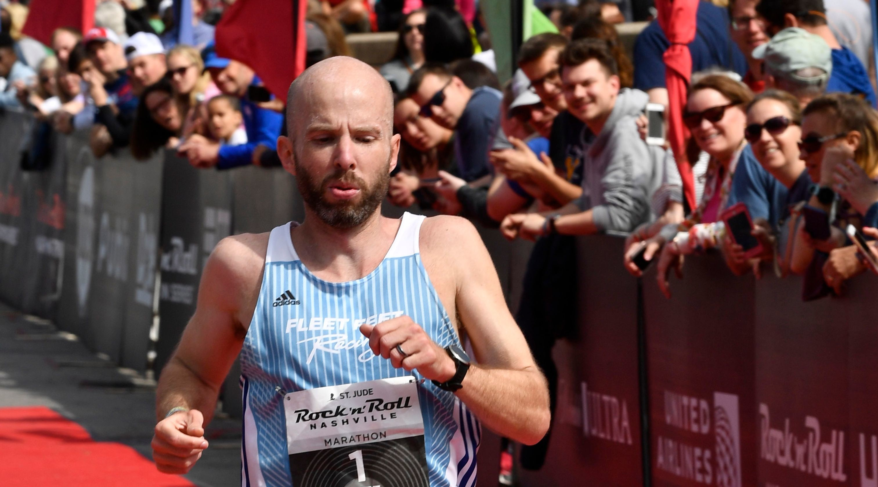 Scott Wietecha won the St. Jude Rock and Roll Marathon for the seventh time