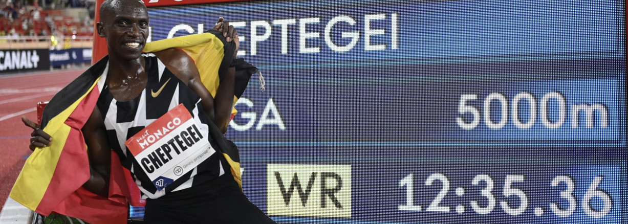 Joshua Cheptegei's world 5000m record of 12:35.36 set at the Wanda Diamond League in Monaco on August 14 has been ratified