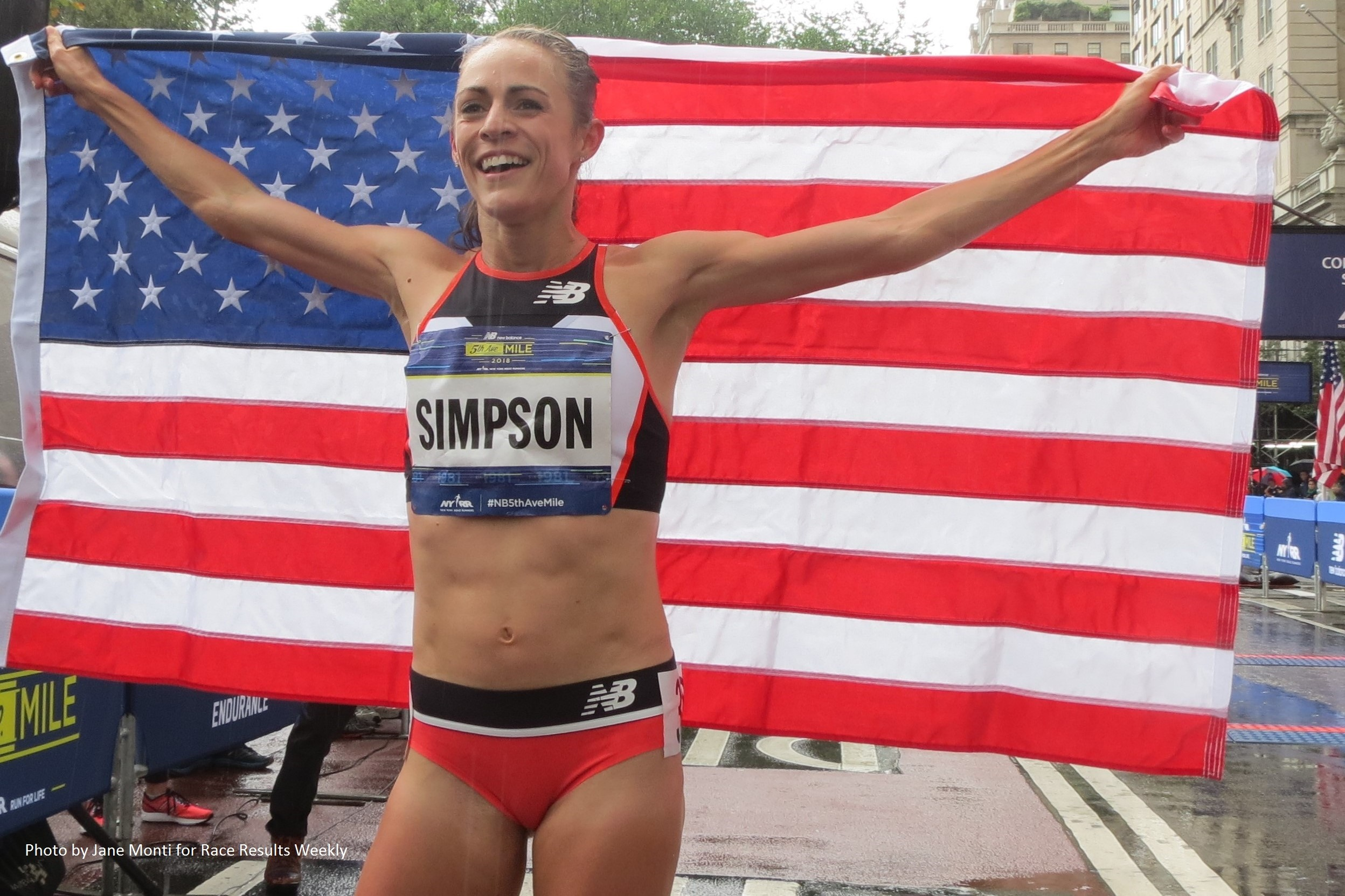 Jenny Simpson becomes the first woman to win the iconic season-ending race seven times at New Balance 5th Avenue Mile