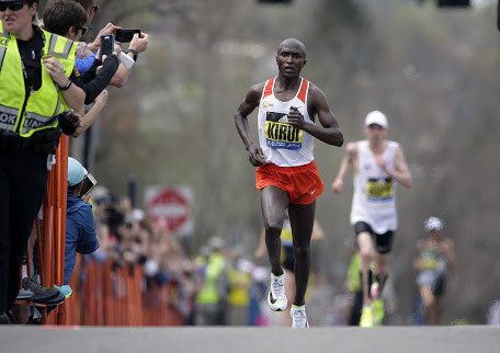 Kirui knows that every runner will want to beat him at this year's Boston Marathon