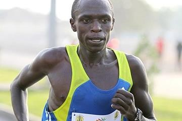 Seoul marathon champion Sylvester Teimet of Kenya hopes for victory at Hangzhou marathon