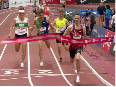 Shelby Houlihan & Josh Thompson Complete Bowerman TC Sweep of 1500s at 2020 USATF Indoors