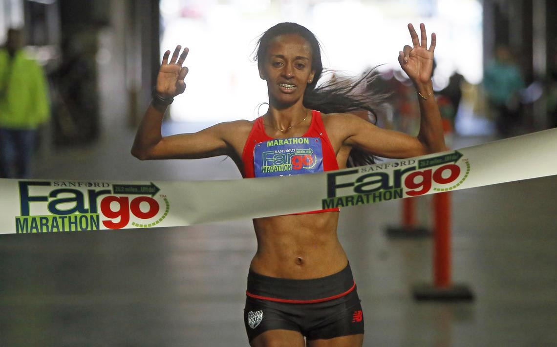 Semehar Tesfaye, who has won the last three Sanford Fargo Marathons, has retired from running and will not be back this year to win a fourth straight women's marathon