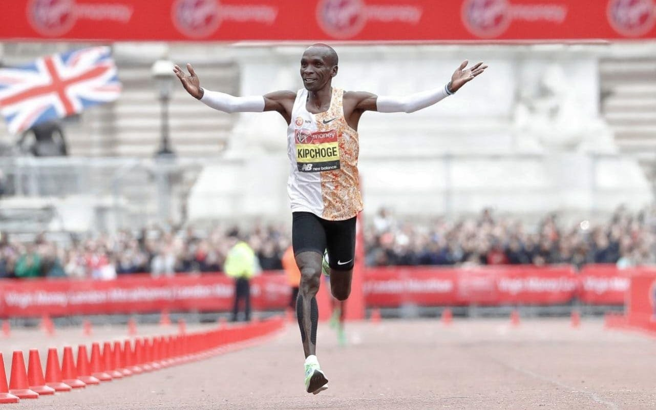 Eliud Kipchoge clocked the second fastest time in history to wins the London Marathon