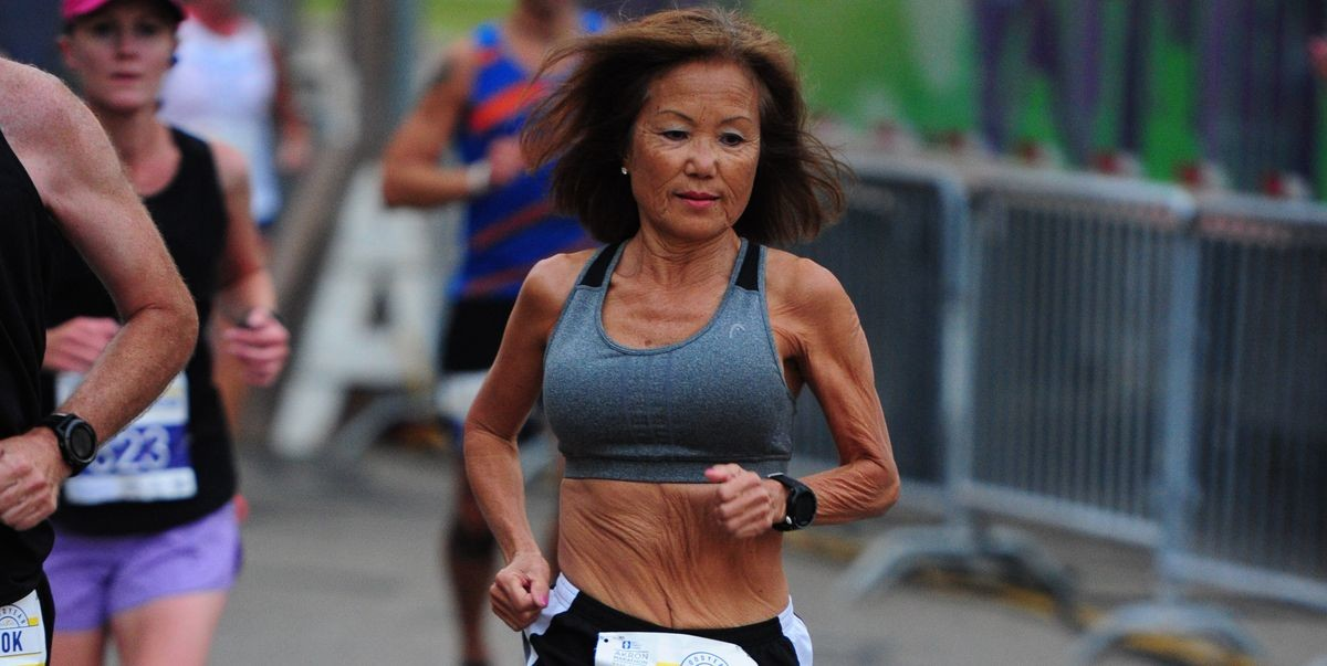71-year old Jeannie Rice, Finishes Akron Half Marathon in Record Time for her age group clocking 1:37:07