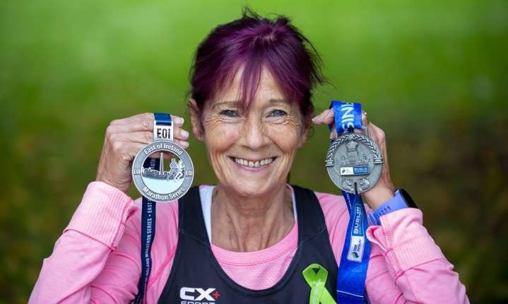 Super grandma, 70, Collette O'Hagan is gearing up for her 695th marathon in  dublin this weekend