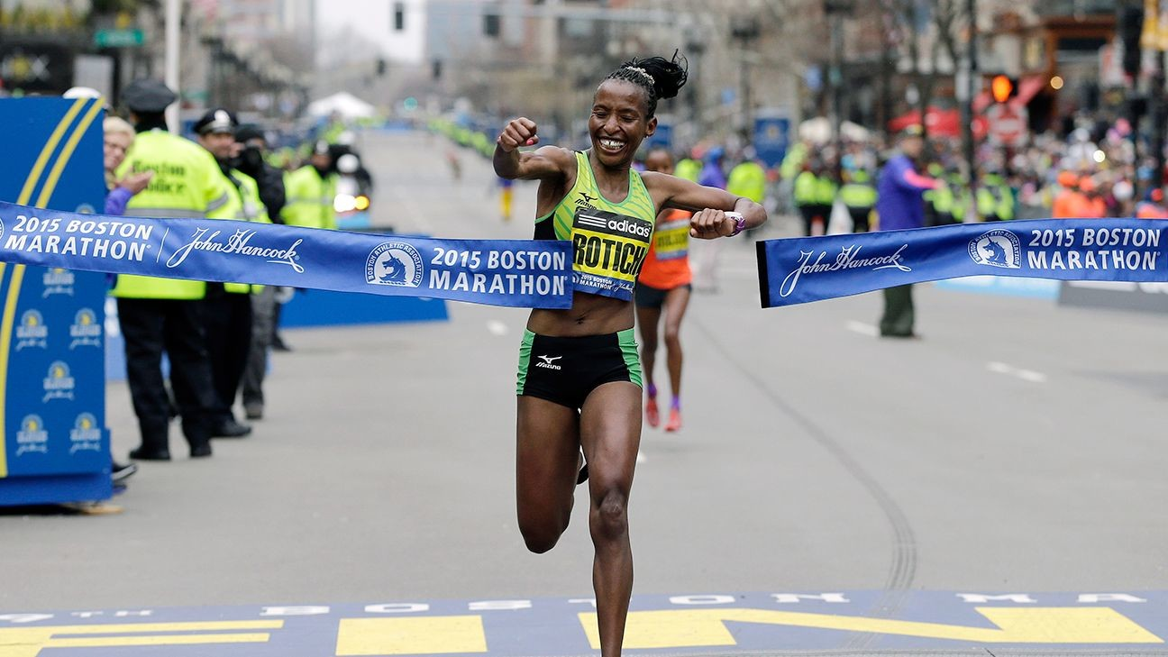 Kenyan Caroline Rotich is hoping to do something only one other female runner has done, win both the Boston Marathon and the BAA 10K this Sunday