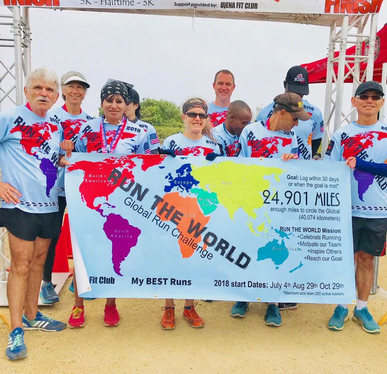 The Run The World Global Run Challenge Team Just finished logging in 24,901 Miles in just under 37 Days