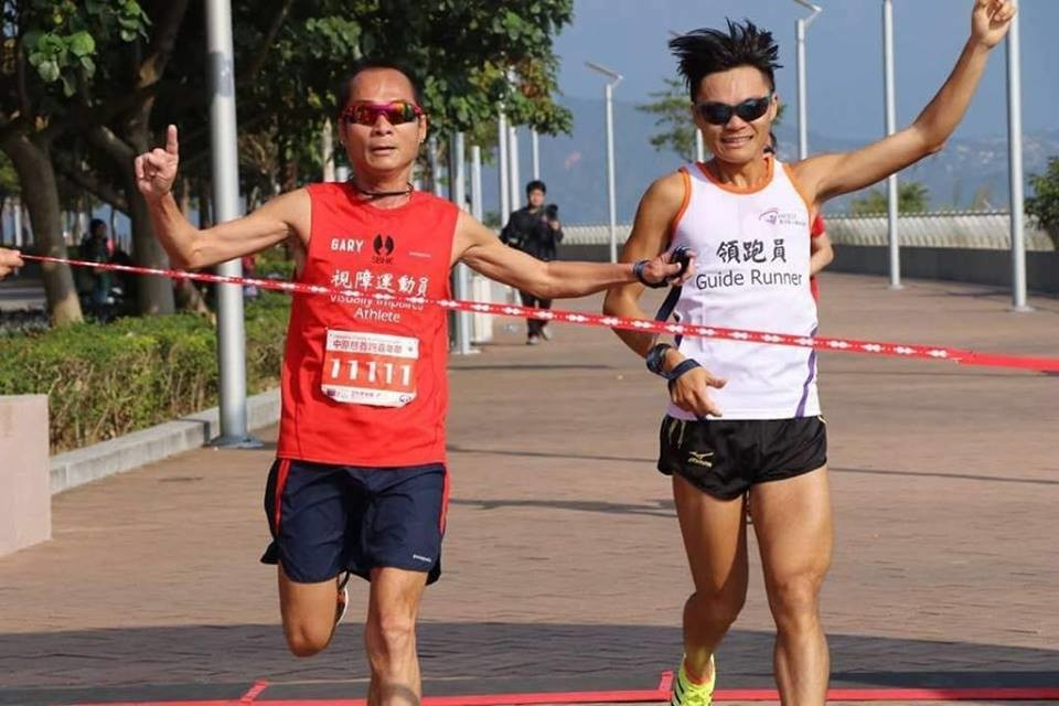 Gary Leung a Hong Kong blind runner is set to run the 400km Ultra Gobi