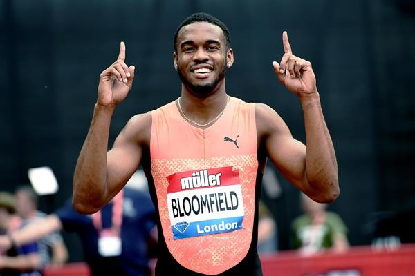 Jamaican sprinter Akeem Bloomfield won the men's 400m at the Muller Indoor Grand Prix Glasgow
