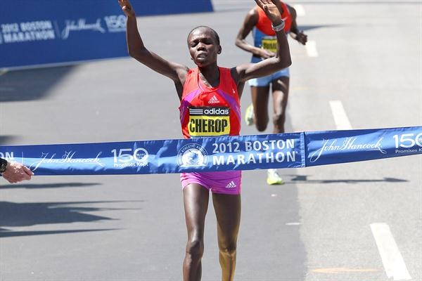 Sharon Cherop of Kenya is running the Boston Marathon aiming to reclaim title