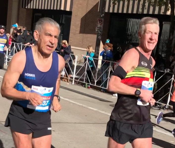 Antonio Arreola and Steve Schmidt became the first runners to break three hours in the marathon over six consecutive decades.