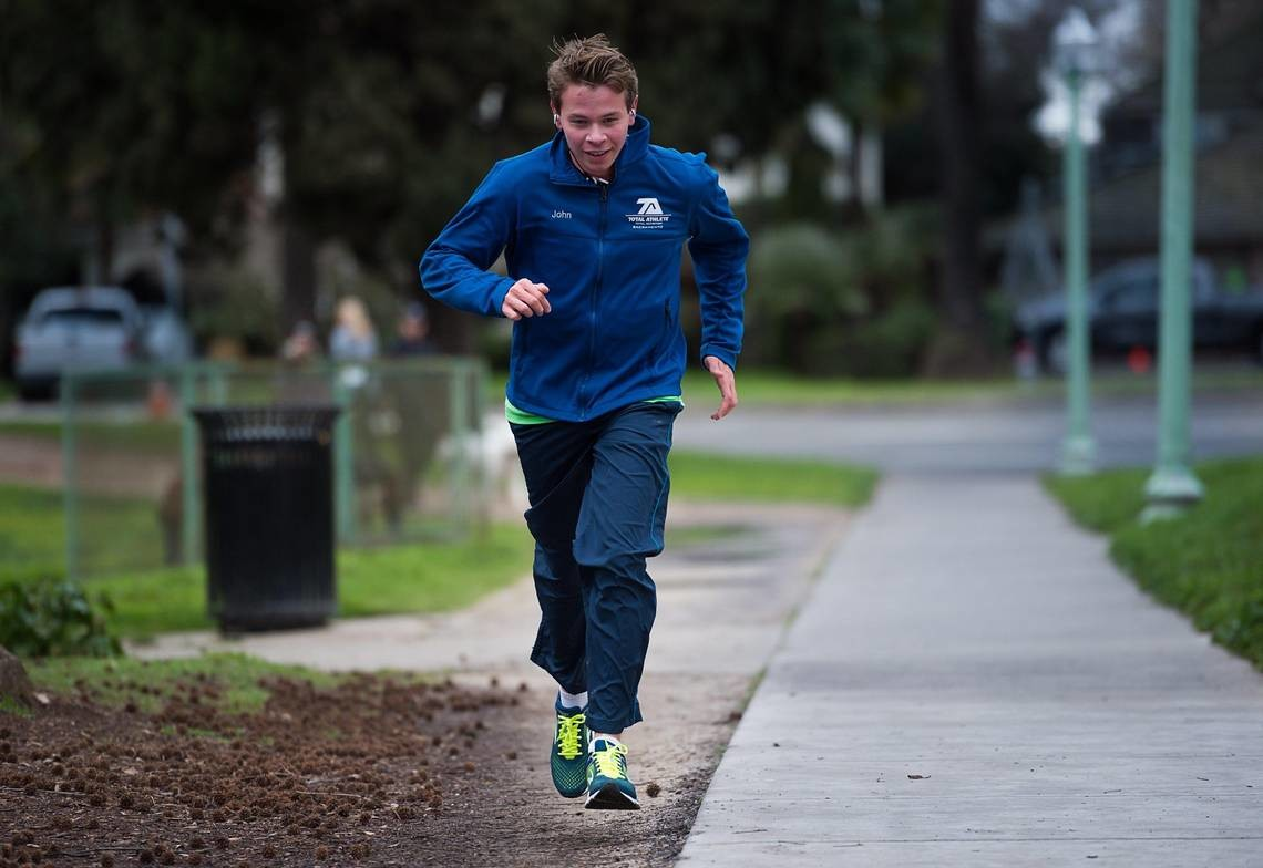 John Almeda a Sacramento runner with nonverbal autism will be competing in the Boston Marathon