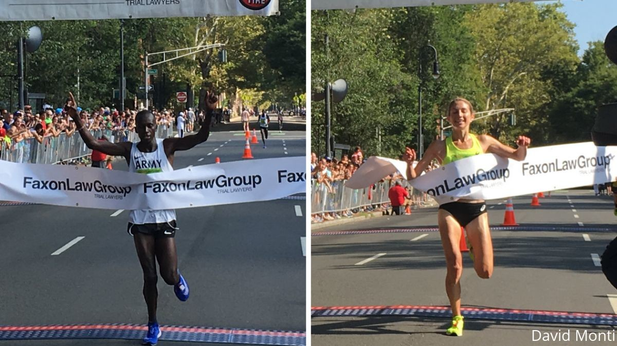 Leonard Korir and Sara Hall Winners at Faxon Law New Haven 20K