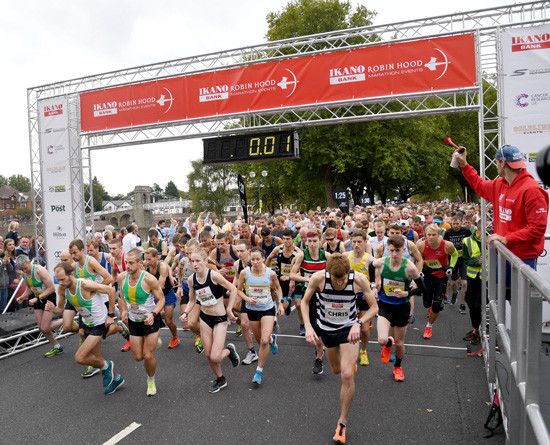 The Robin Hood Half Marathon course has been changed to make it an easier course