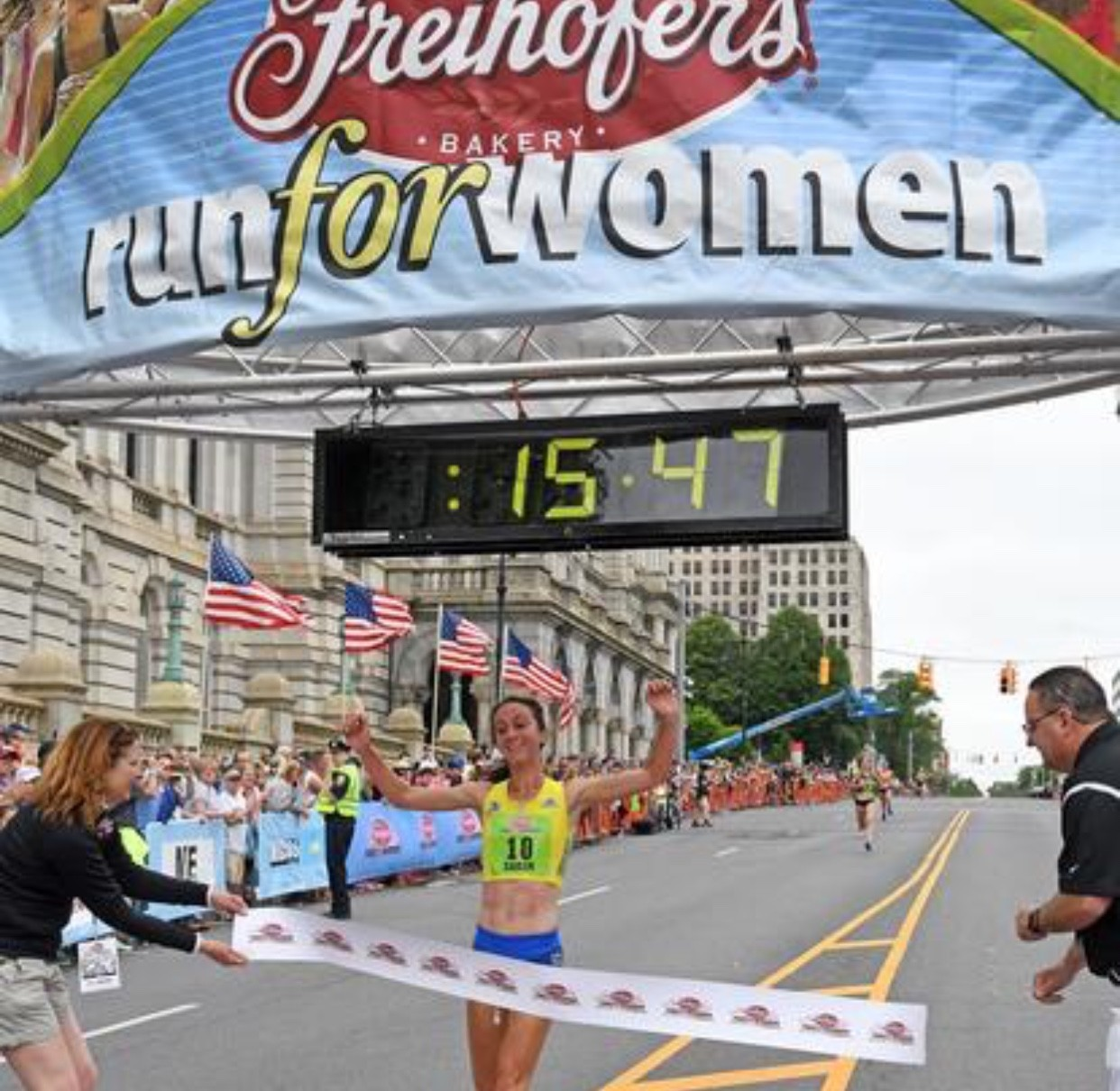 Sarah Pagano wins the 40th Annual Freihofer's Run for Women 5K