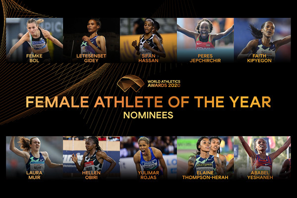Finalists for Female Athlete of the Year 2020