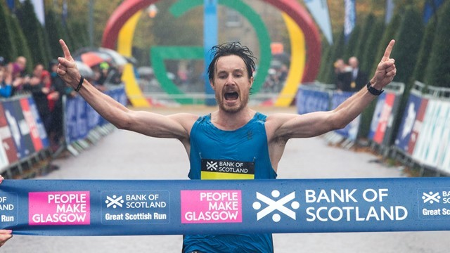 Chris Thompson will return to Glasgow to defend his Bank of Scotland Great Scottish Run half marathon title on Sunday