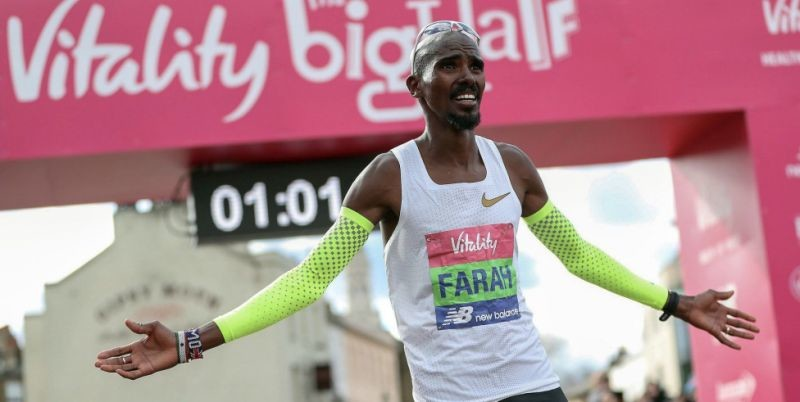 Mo Farah retained the Vitality Big Half title as he outkicked Bashir Abdi of Belgium and Daniel Wanjiru of Kenya to take the win in a thrilling sprint finish