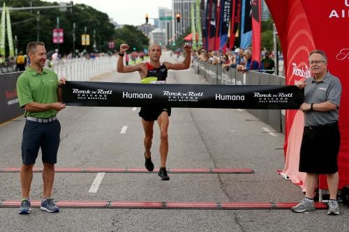 Dathan Ritzenhein won the 2019 Humana Rock 'n' Roll Chicago Half Marathon