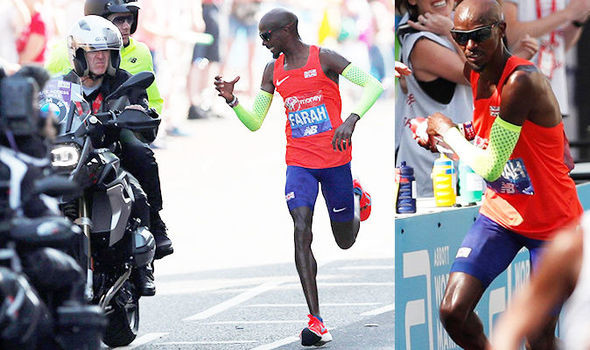 "A ""knackered"" Mo Farah crossed the London Marathon finish line in a time of 2:06:21"