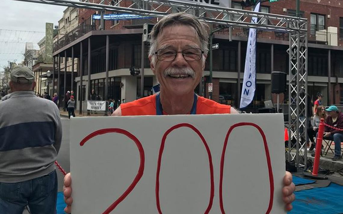 Veteran runner Jeff Johnston reaches another marathon milestone, completes 200th race, has no plans to stop