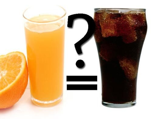 Fruit Juice can be nearly as bad for you as soda, what?