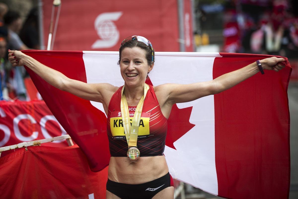 Krista DuChene placed third at the 2018 Boston Marathon and her 16th Marathon will be STWM