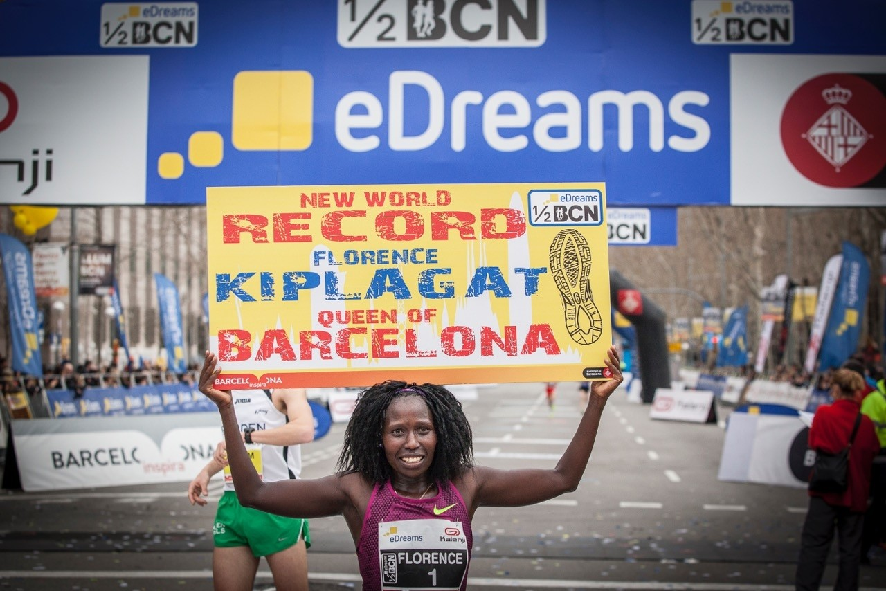Kenya's Florence Kiplagat is not ready to run the Barcelona Half