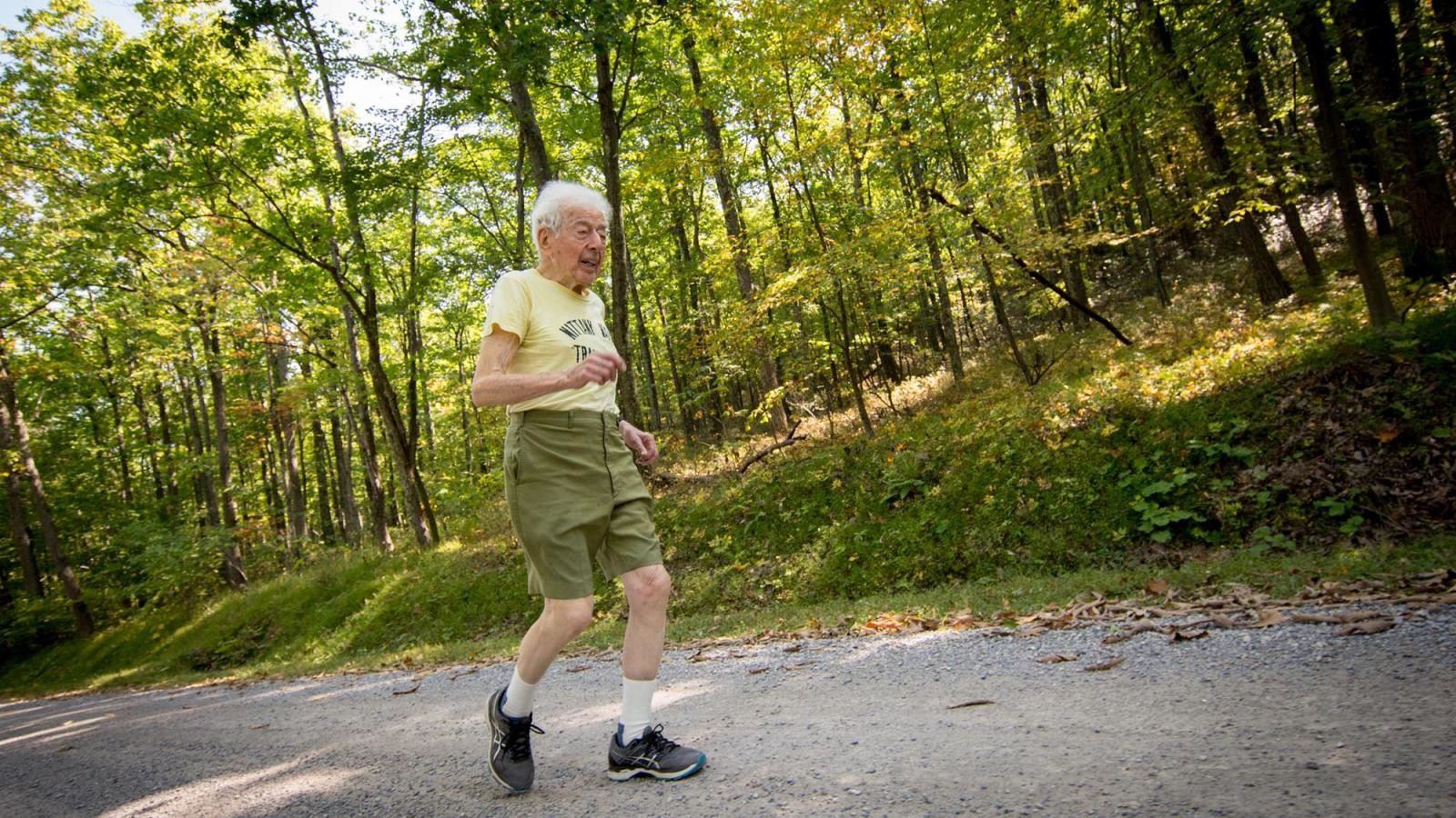 99-year-old George Etzweiler did not finish the Mount Washington Road Race this year but is already planning to do it next year