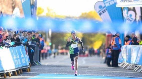 Morocco's Othmane El Goumri wins the 40th Dublin Marathon