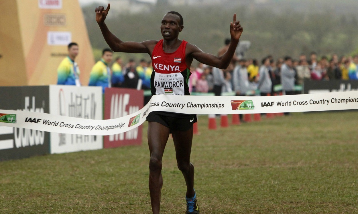World Cross Country defending champion Geoffrey Kamworor is ready to defend his title this weekend