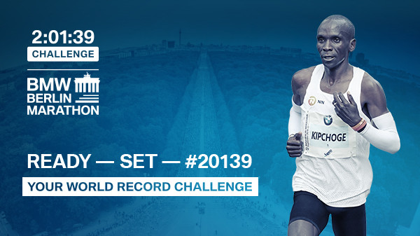 Be part of the 2:01:39 Challenge – BMW BERLIN-MARATHON on September 26-27, 2020