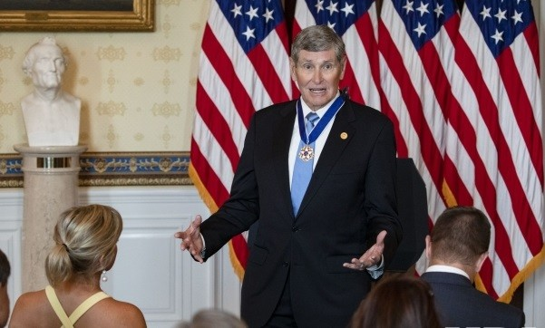 Mile runner Jim Ryun Receives the Medal of Freedom at the White House