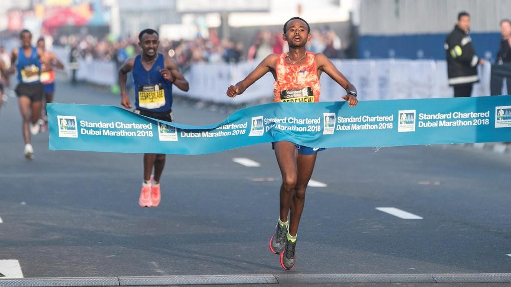 The finish of the Dubai Marathon was the most exciting Marathon finish ever