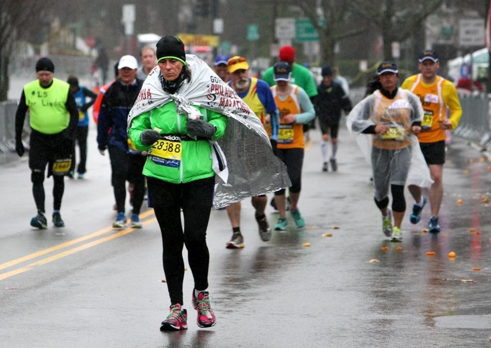 The forecasters are thinking there will be at least some rain during the Boston Marathon