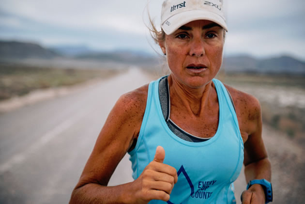 Mina Guli is running 100 marathons in 100 days to highlight a looming global water shortage