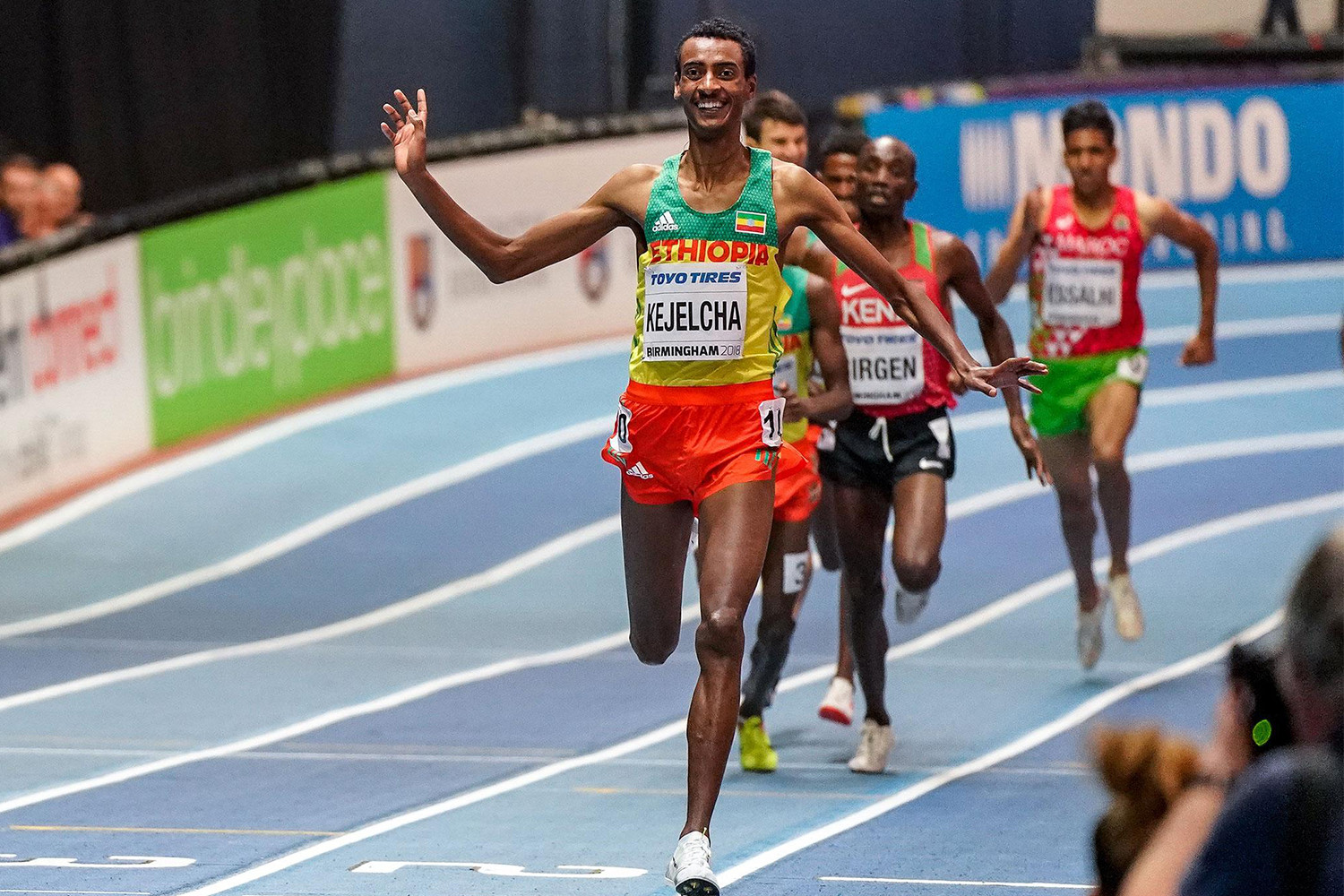 Ethiopian Yomif Kejelcha will attempt to break the mile world record at Millrose Games