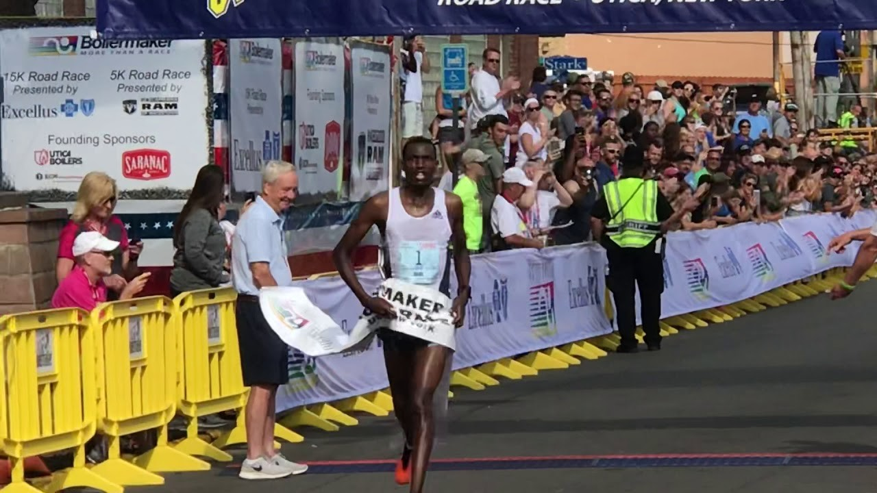 Tanzania's Gabriel Geay and Kenya's Caroline Rotich, were the 15K Boilermaker winners
