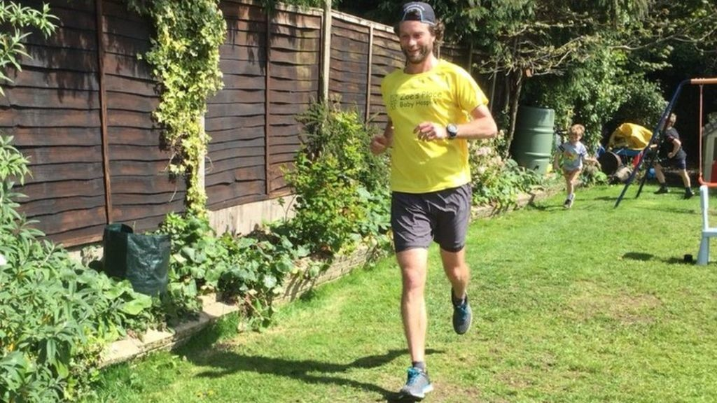 Mike Reid, will be running in his back garden a 100km ultra marathon