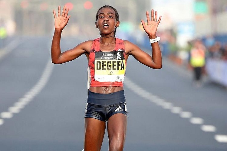 Ethiopian record-holder Worknesh Degefa will target a second victory at the Standard Chartered Dubai Marathon